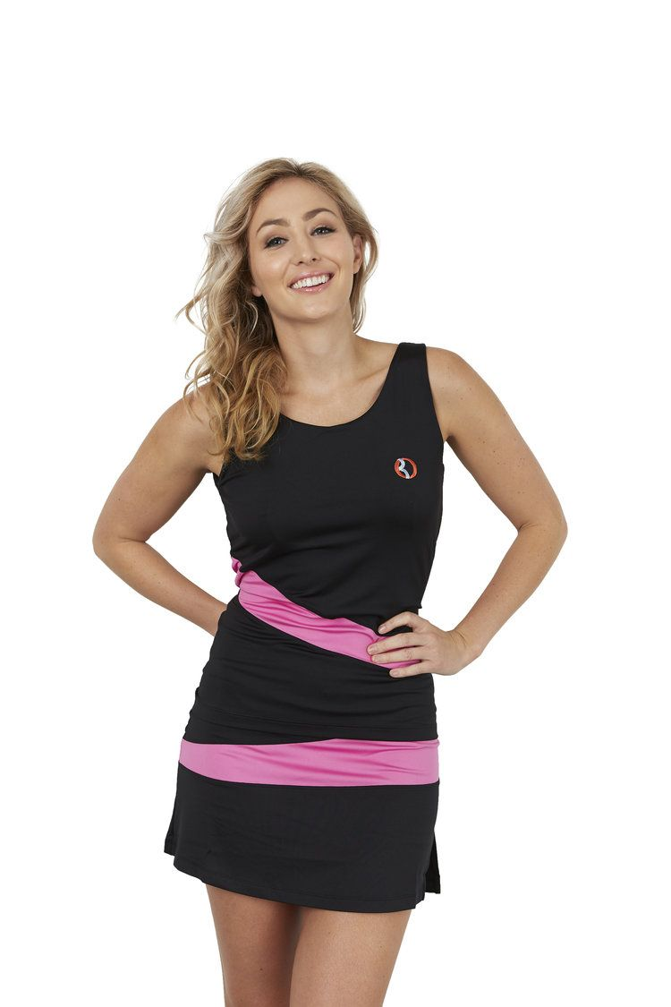 30Fifteen Sue Top Black and Pink. Available on our website:                                                                          www.30Fifteen.co.uk 30Fifteen | Tennis | Fitness | Health | Fashion
