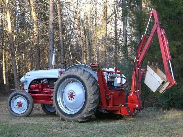 Sherman Backhoes For Ford Tractors : Using your ford n tractor and implements