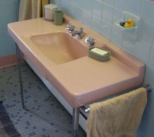 50s Pink Sink Vintage Bathroom Sinks Bathroom Sinks For Sale