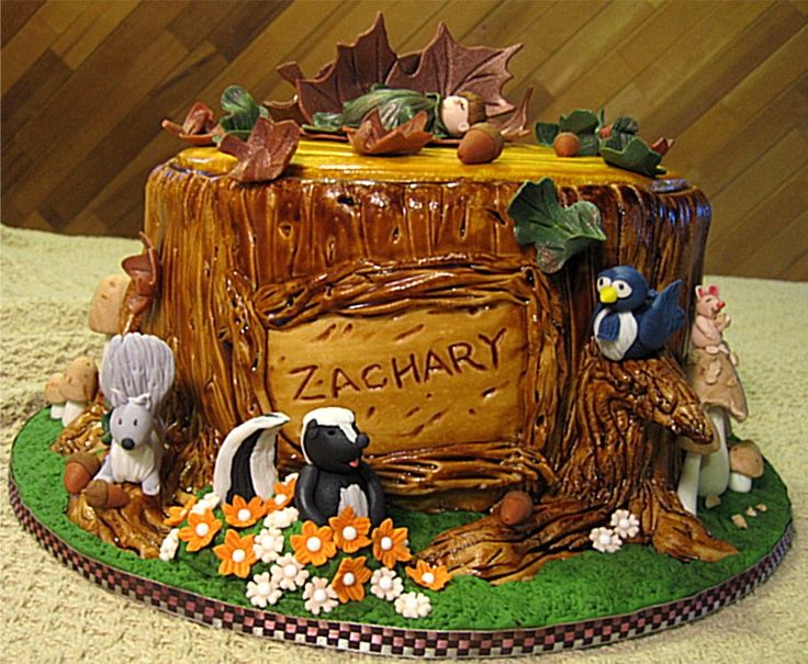 tree stump cake | Tree stump cake | Cake (Stumps) Examples *** I like the branch for the bird to sit on