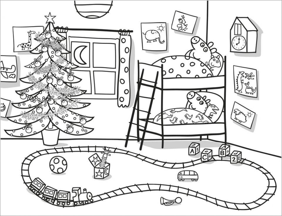 Fun Christmas Peppa Pig Coloring Pages Peppa Pig Coloring Pages Peppa Pig Colouring Peppa Pig Christmas
