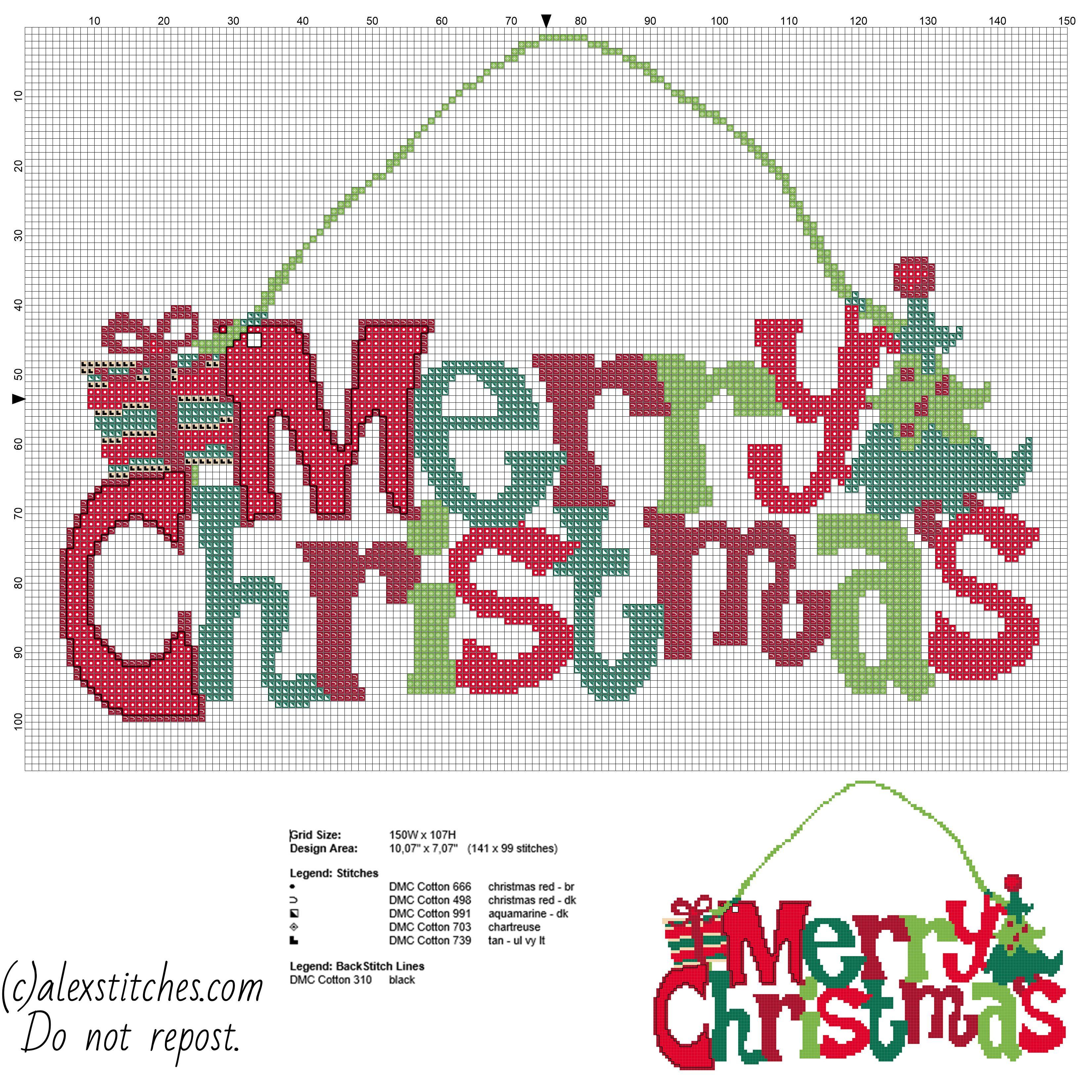 Christmas Cross Stitch Patterns Unique Design Ideas