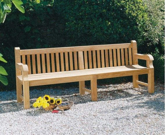 Wondrous Balmoral Park Bench 8Ft Teak Street Bench 2 4M Andrewgaddart Wooden Chair Designs For Living Room Andrewgaddartcom