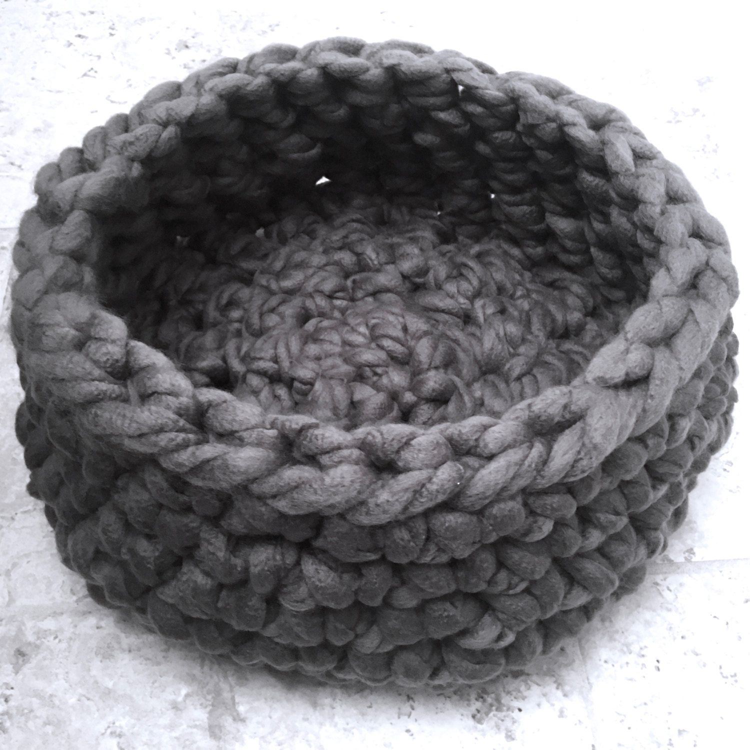 Pet Bed Chunky Knit Cat Bed, Crochet cat bed or small