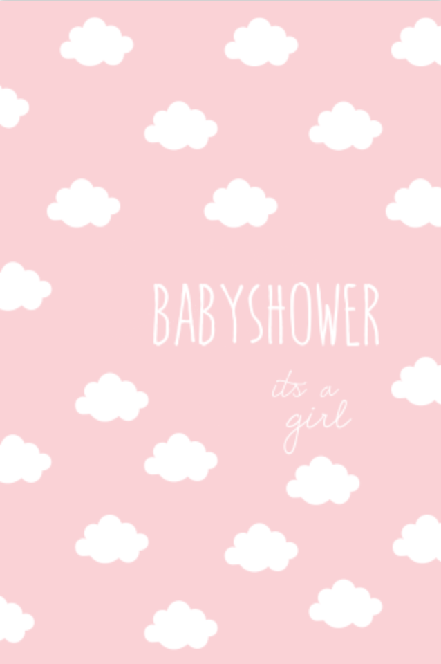 lovz.nl | babyshower uitnodigingskaart | zelf maken | wolken patroon