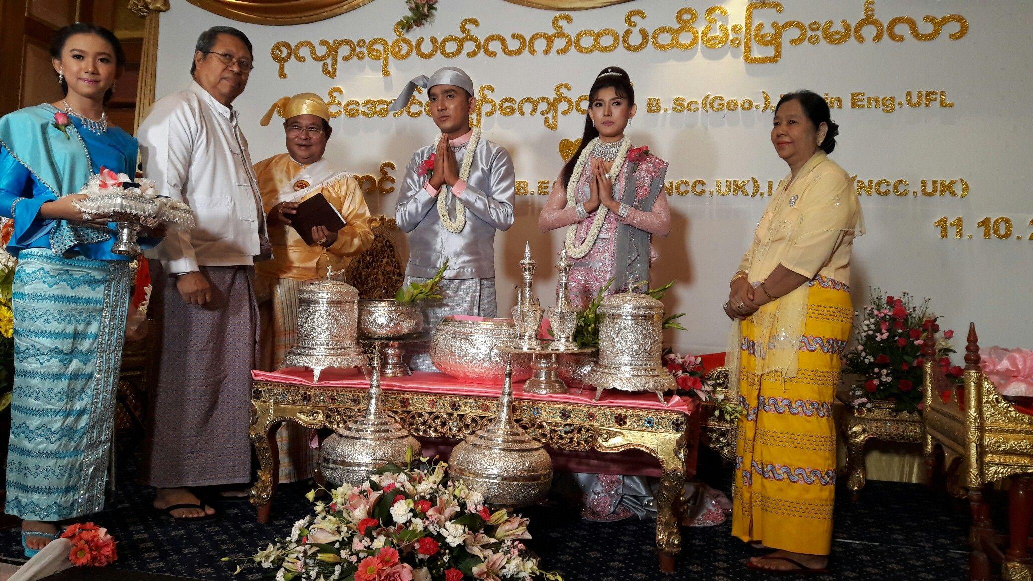 Bride And Groom Myanmar Traditional Wedding Ceremony