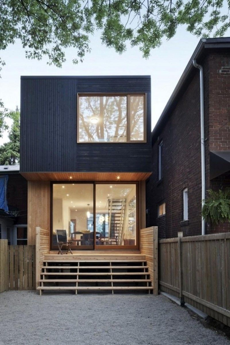 Minimalist Wooden House Design: Small Space Box Shape House Design Ideas With Minimalist