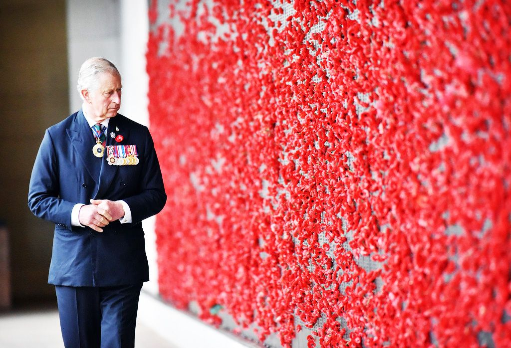 """royalwatcher: """"Prince Charles, Prince of Wales walks along the Roll of Honour at the Australian War Memorial on November 11, 2015 in Canberra, Australia. The Royal couple are on a 12-day tour visiting..."""