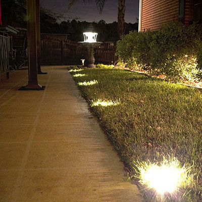 Solar Ground Deck Lights Frontgate Products Path