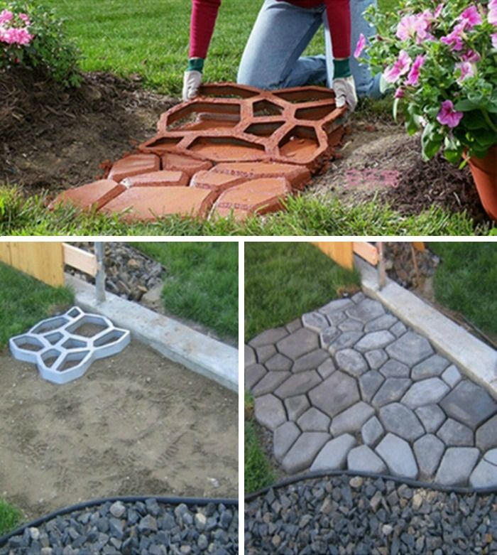 C mo hacer un camino de cemento en el jard n y que tenga for Ideas para hacer un jardin
