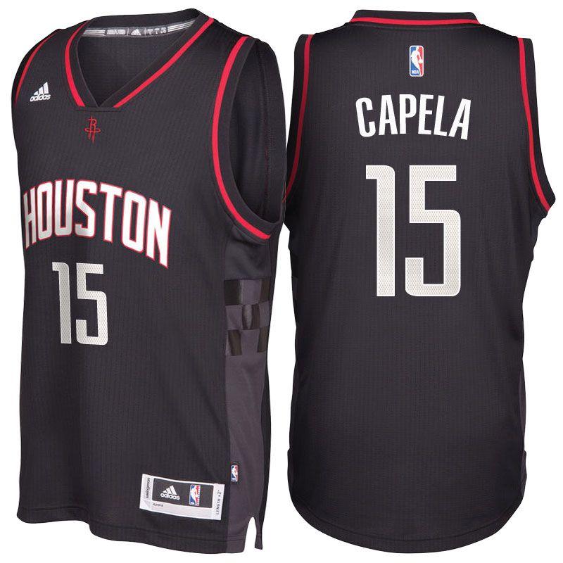 Houston Rockets #15 Clint Capela 2016-17 Alternate Black Space City  Swingman Jersey
