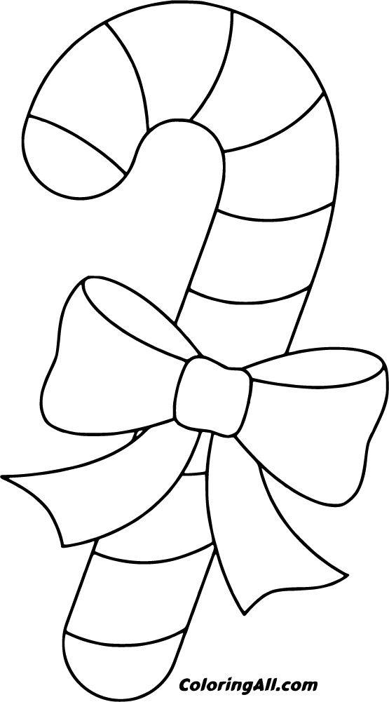 24 free printable Candy Cane coloring pages in vector ...