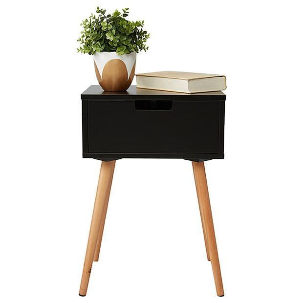 Best Side Table With Drawer Black Side Table With Drawer 400 x 300