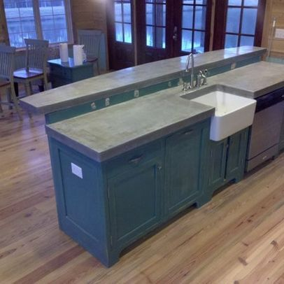 Cast In Place Concrete Countertops This Is Close To The Color I Am Painting My Lower Cabinets