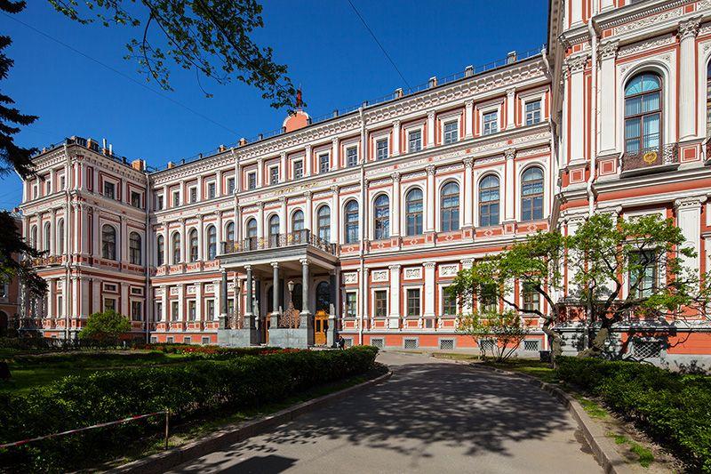 Nikolaevskiy Palace on Ploshchad Truda in St Petersburg, Russia