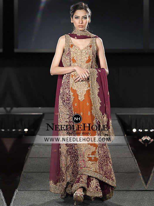 c087de0050 Shop Pakistani Wedding Sharara Dress By Hsy Studio Hassan Shehryar Yasin.  Superb… Shop Pakistani