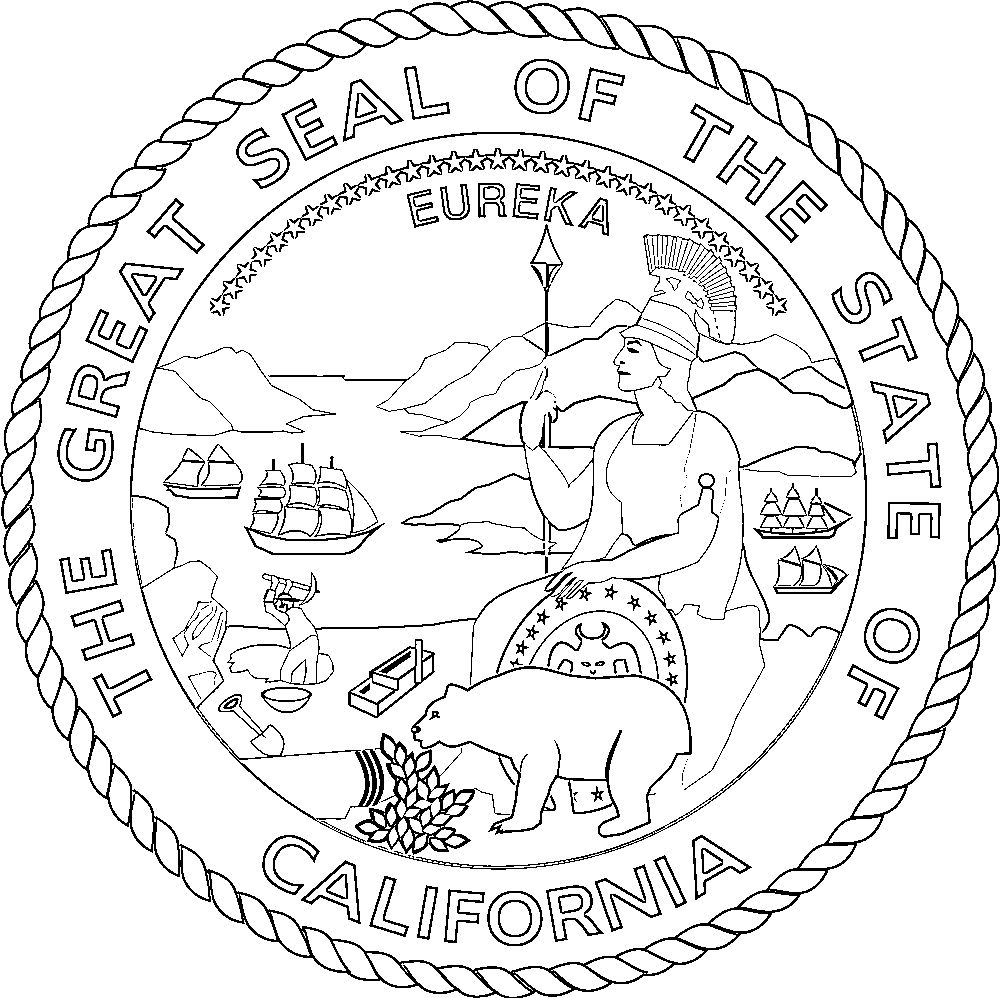 Image result for seal of california state coloring page