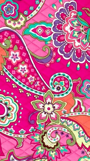 Pink Swirls Vera Bradley Vera Bradley Wallpaper Paisley Art Iphone Wallpaper