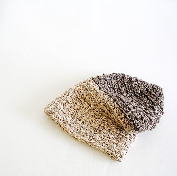 crochet slouchy Hat Love the color scheme and texture | Proyectos ...