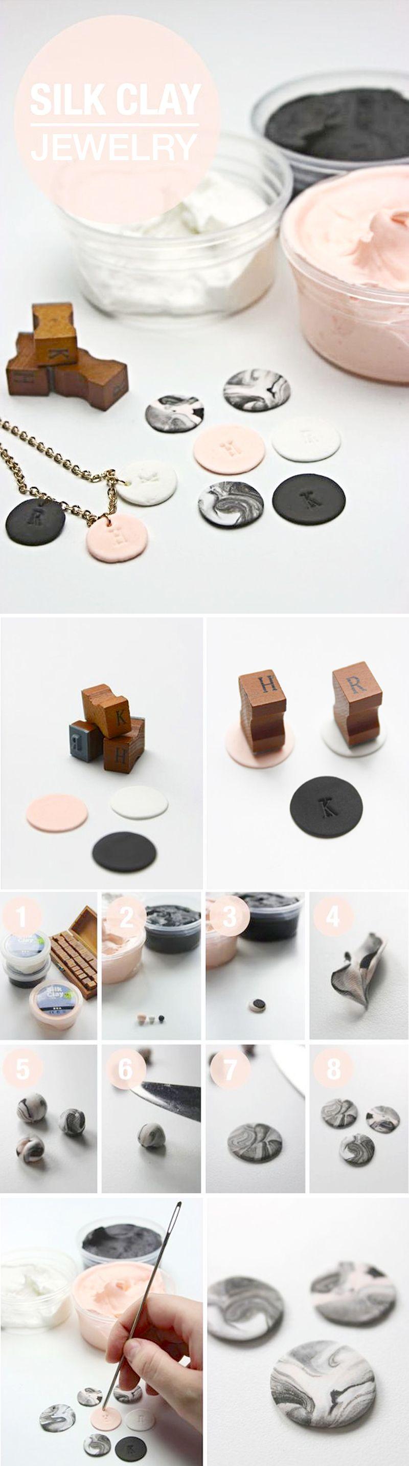 DIY Silk Clay Jewelry Clay jewelry, Diy clay, Diy