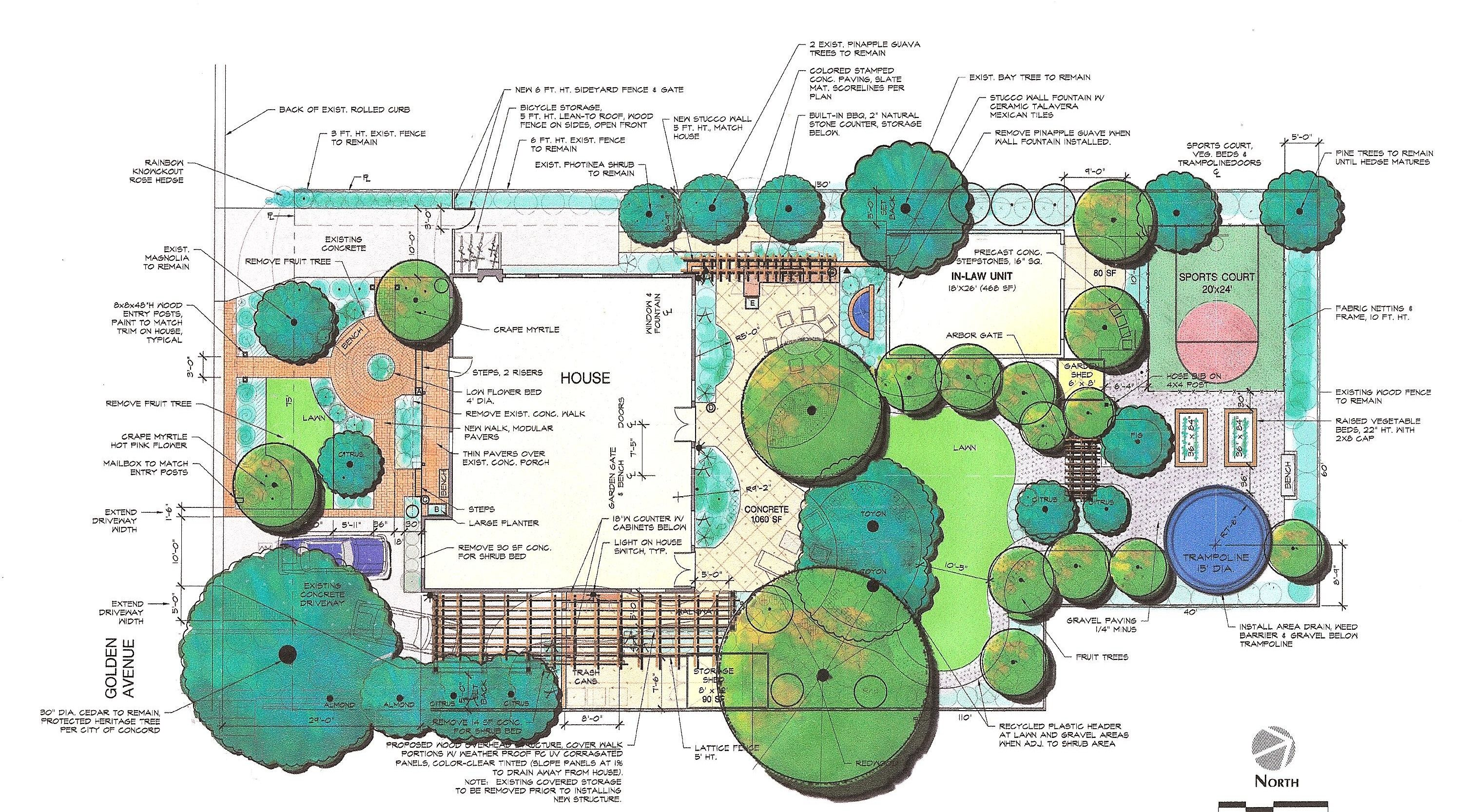 Landscape architecture planting design illustrated 3rd for Example of landscape drawing