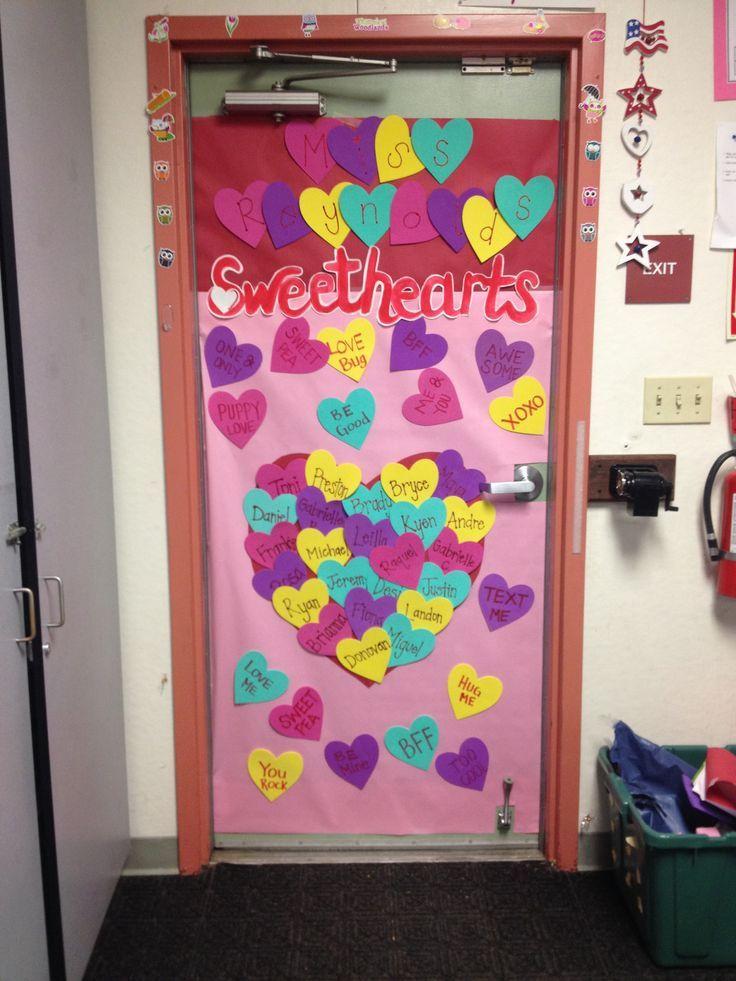 Classroom Decoration For Valentines ~ Valentine s classroom door decoration valentines day