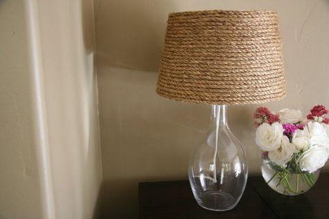 Une Lampe Abat Jour De Corde Diy Abat Jour Lampe Abat Jour Et Customiser Abat Jour