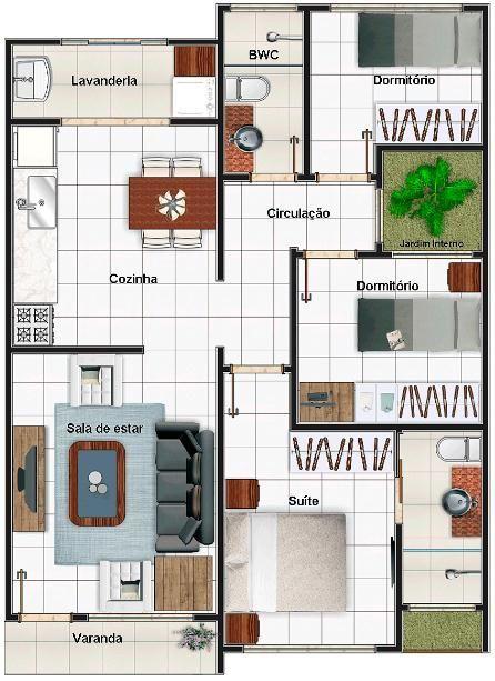 planos de casas 3 dormitorios 1 baño