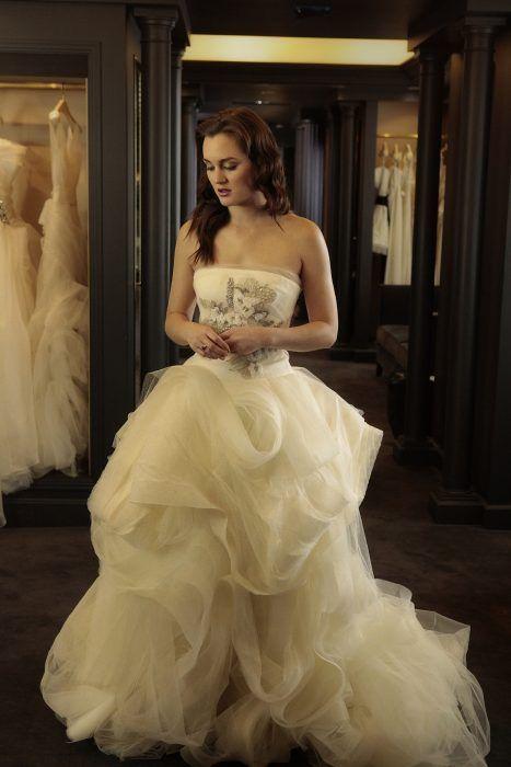 blair waldorf usando un vestido de novia de vera wang | gossip girl