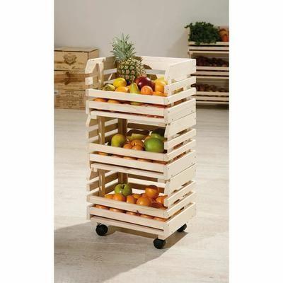 Caisse De Rangement Sur Roulettes Fruits Meuble Rangement Cuisine Rangement Legumes Garde Meuble De Legumes