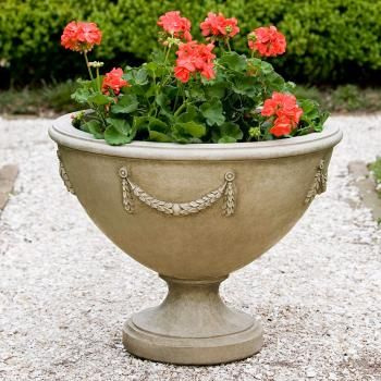 Cast Stone Neoclassic Planter Urn #planter #urn #pot #patio #garden