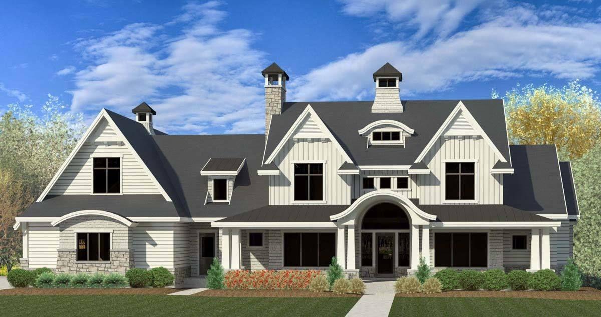 House Plan 290085IY Modern Farmhouse With Dramatic