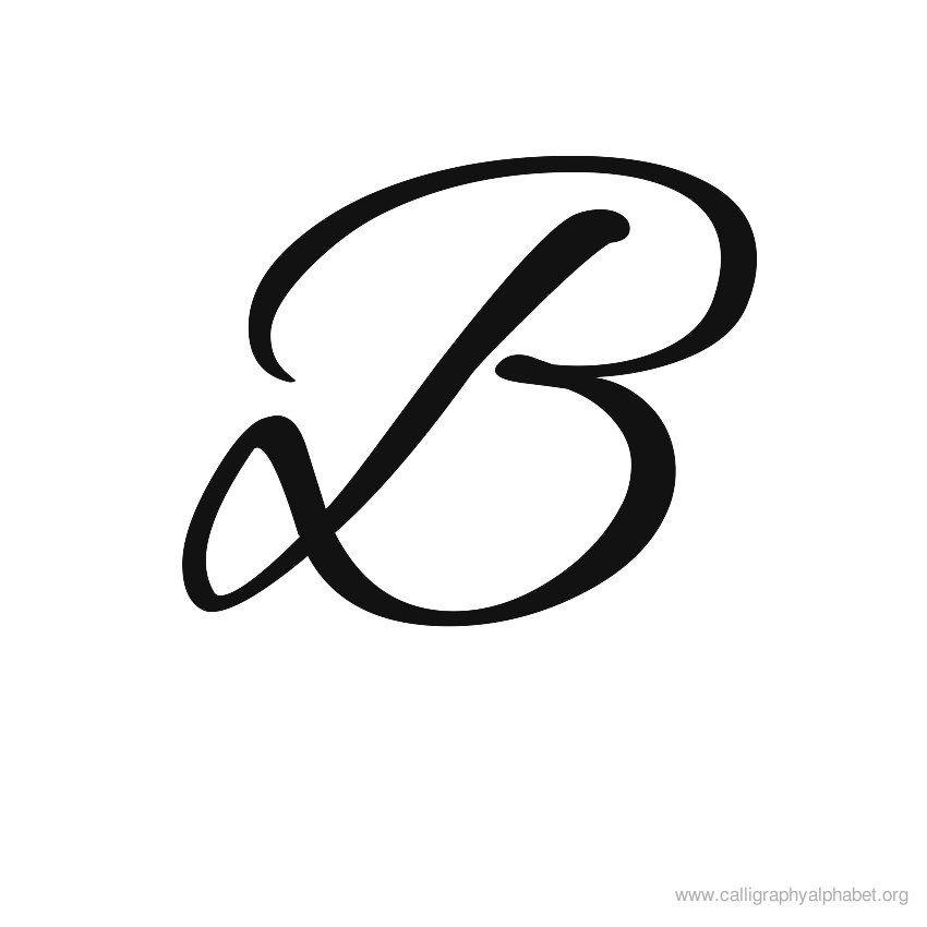 Calligraphy Alphabets B