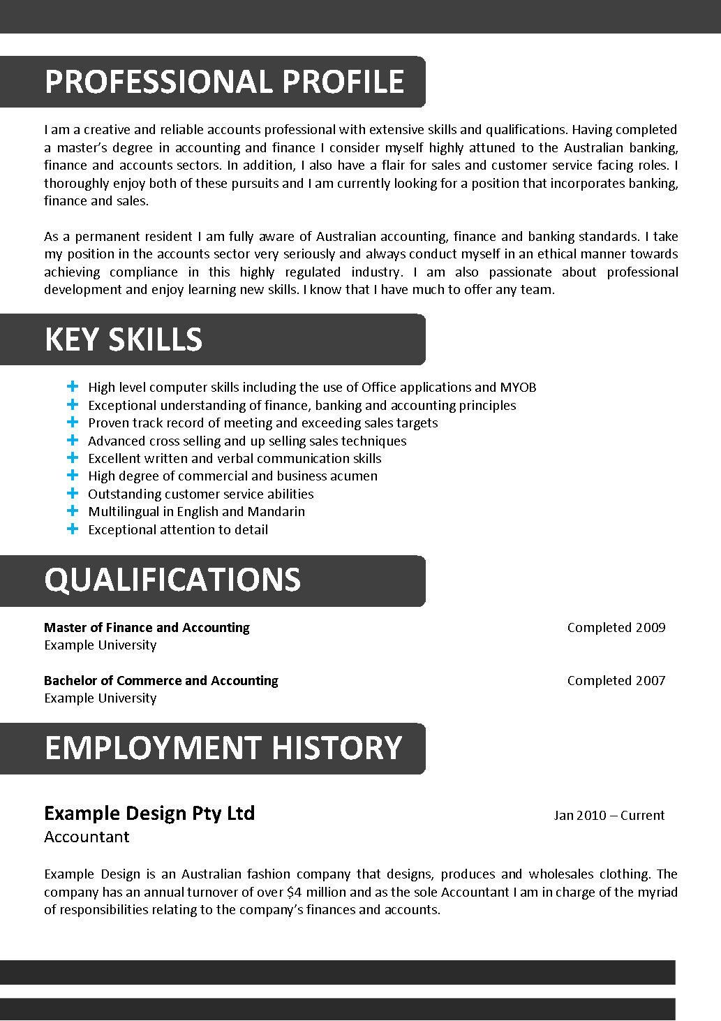 A Key to Drafting the Perfect Resume Resume template