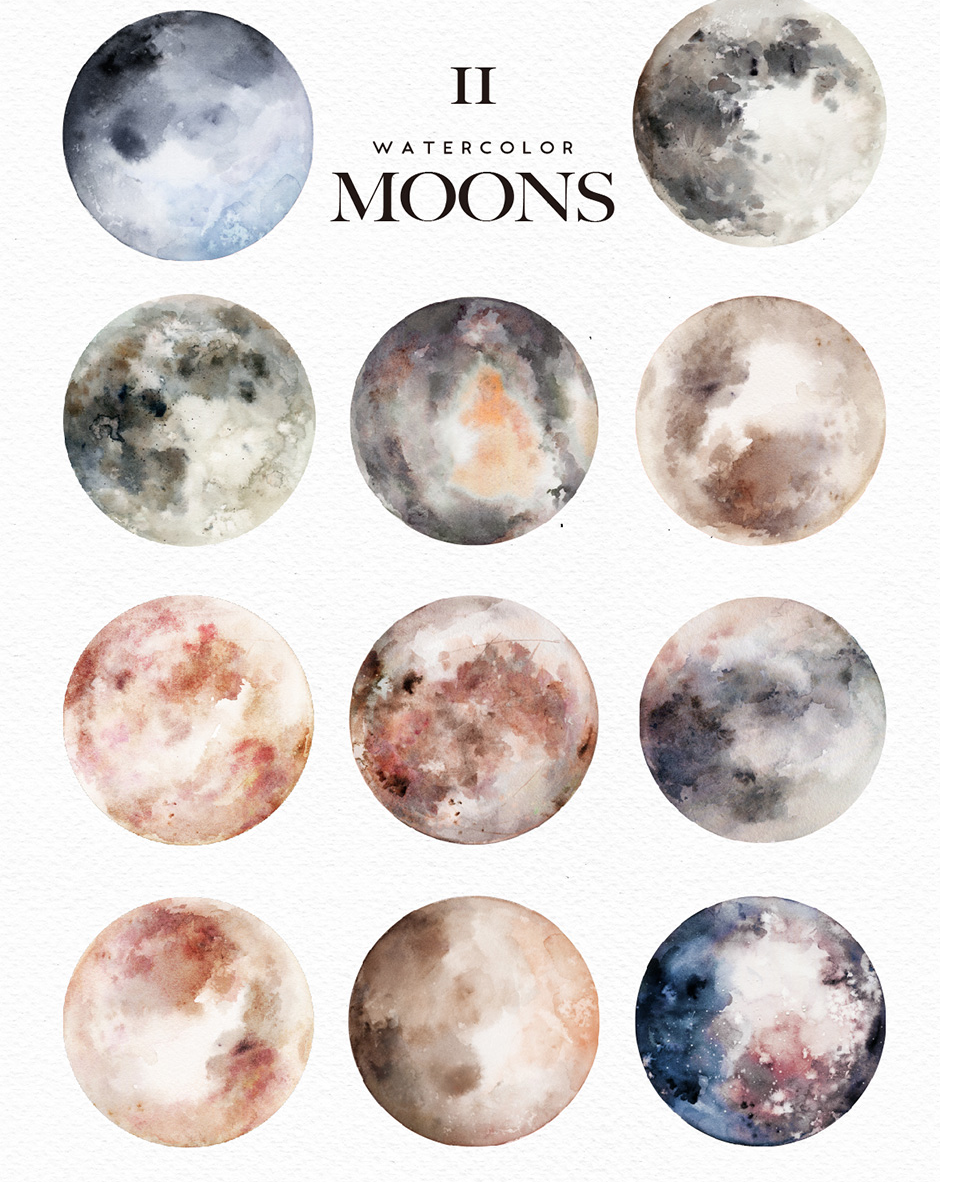 Pin by Nicolette Trone on Illustrations in 2019 | Watercolor moon