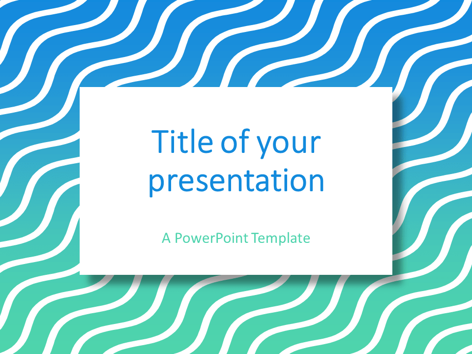 Free abstract powerpoint template with white wavy lines on a green free abstract powerpoint template with white wavy lines on a greenblue gradient background toneelgroepblik Gallery