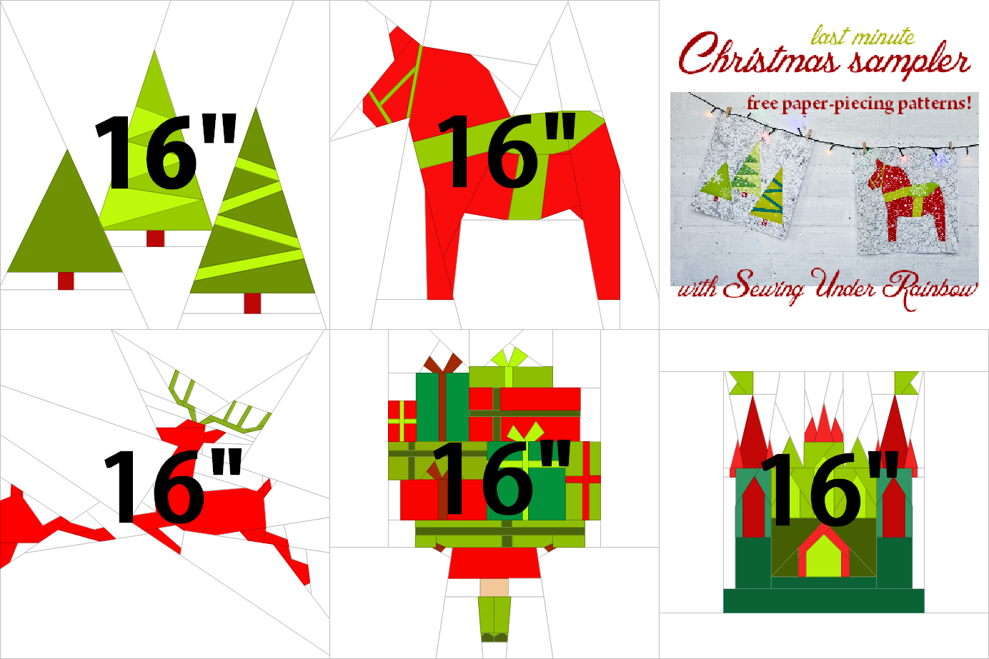 In next couple of weeks I would love to share with you Christmas themed paper-piecing block patterns. I've been thinking about this QAL las...