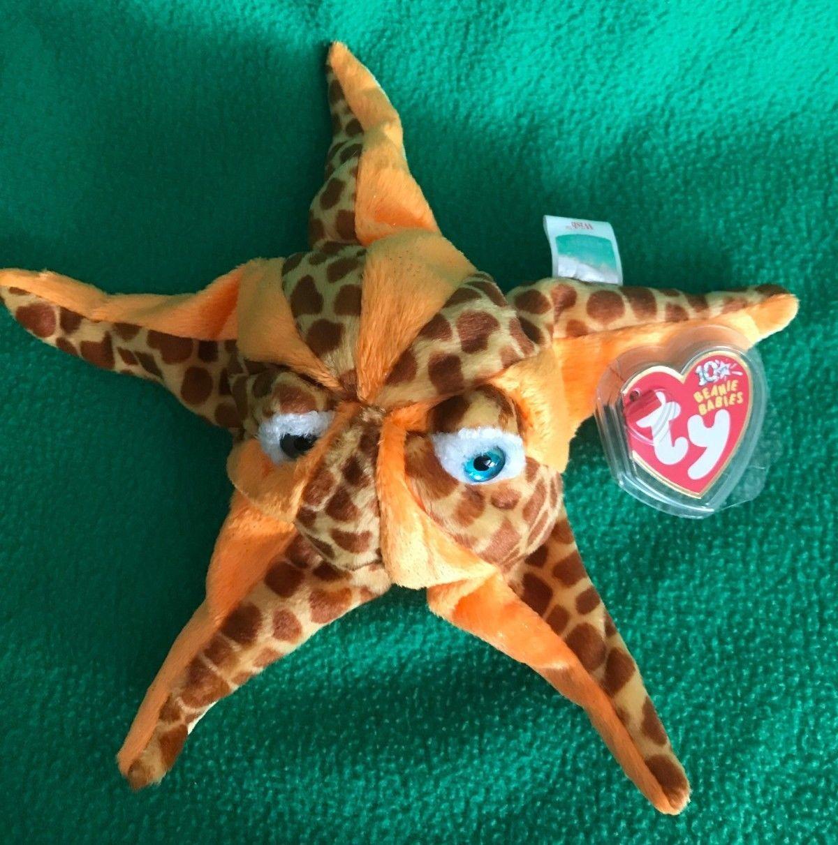 7.5 Inch MWMT Ty Beanie Baby ~ WISH the Starfish