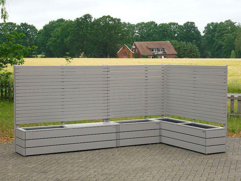 Pflanzkasten Holz Ecke mit Sichtschutz, Oberfläche