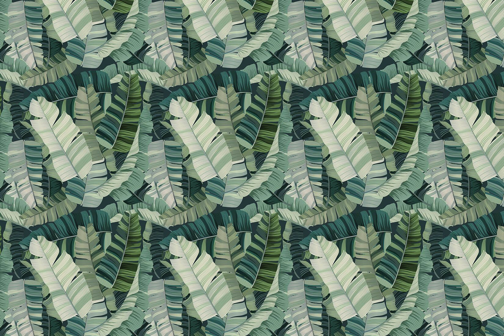 3D Mixed Tropical Camo Leaf Wallpaper (With images) Leaf