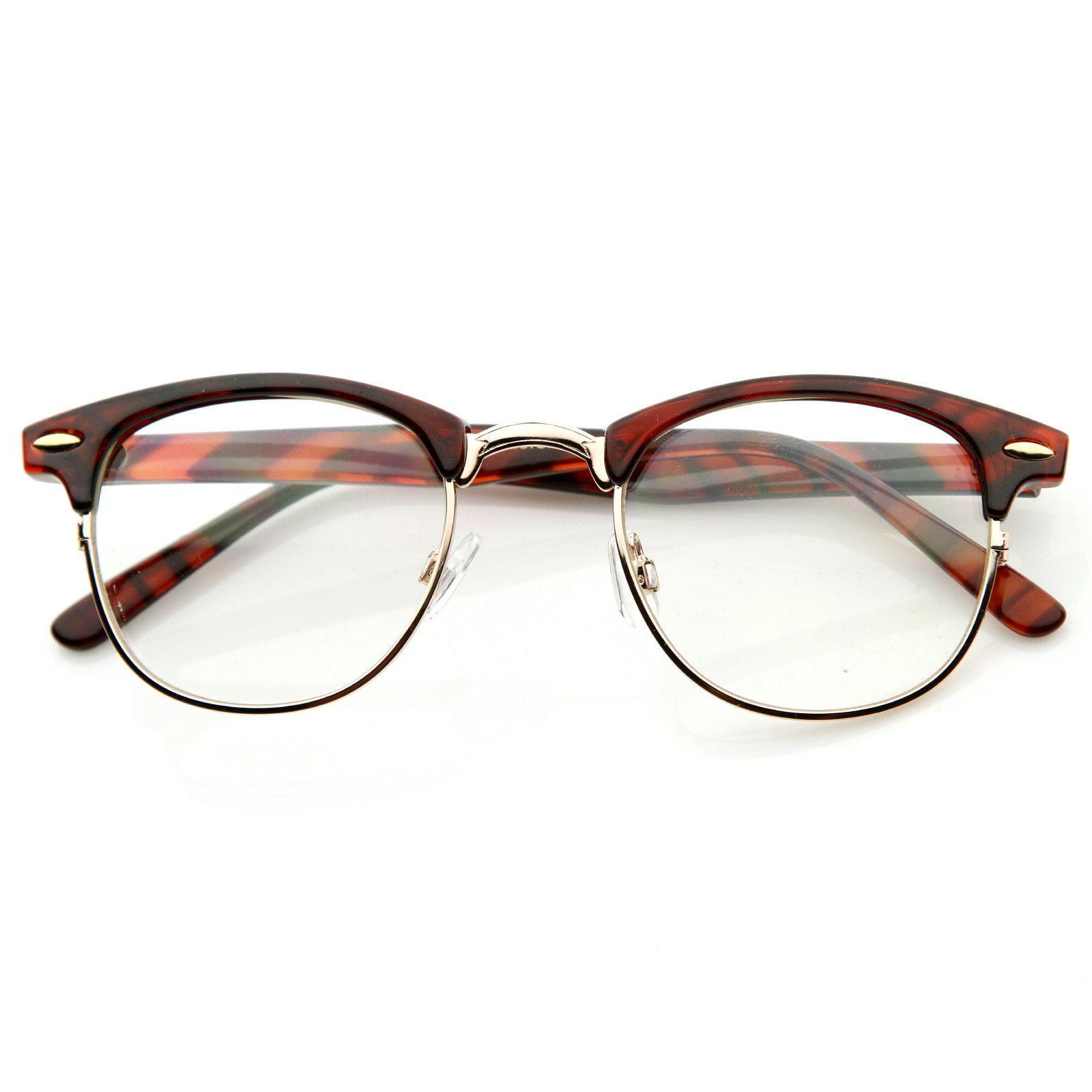 ba8311a221 Vintage Optical RX Clear Lens Half Frame Glasses 2946 49mm