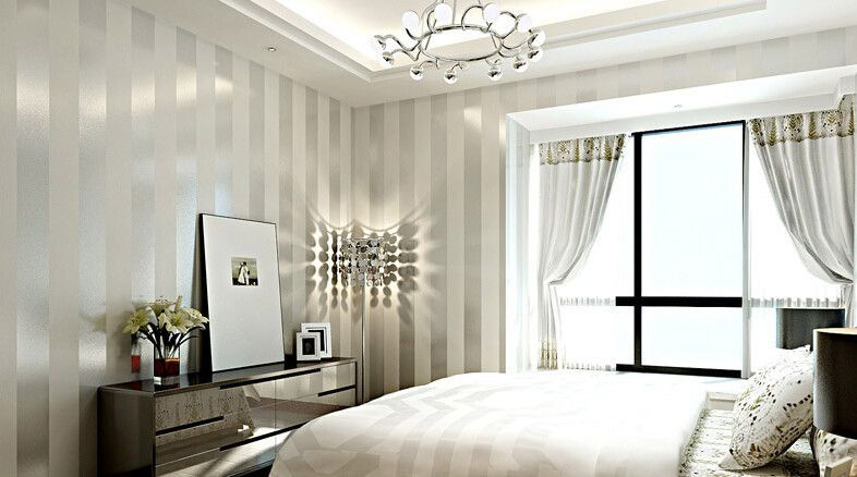 silver white 4 decorating striped wallpaper white home decor rh pinterest com au