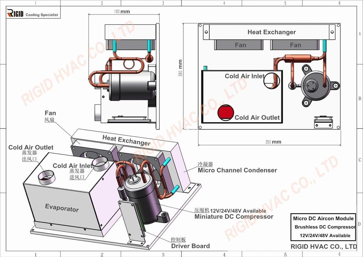DV1910EAC (12V, Pro) in 2020 Cooling unit, Hvac cooling