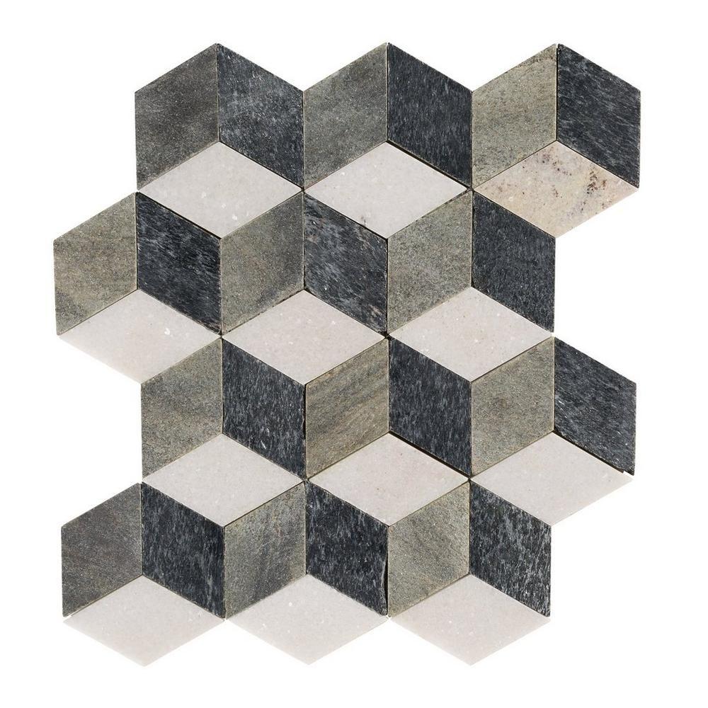 Modern Geo Slate Mosaic Decorative Tile Stone Mosaic
