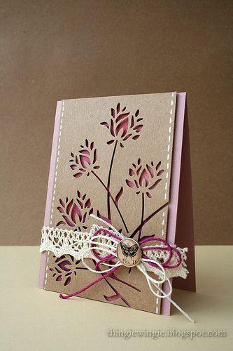 pretty card: