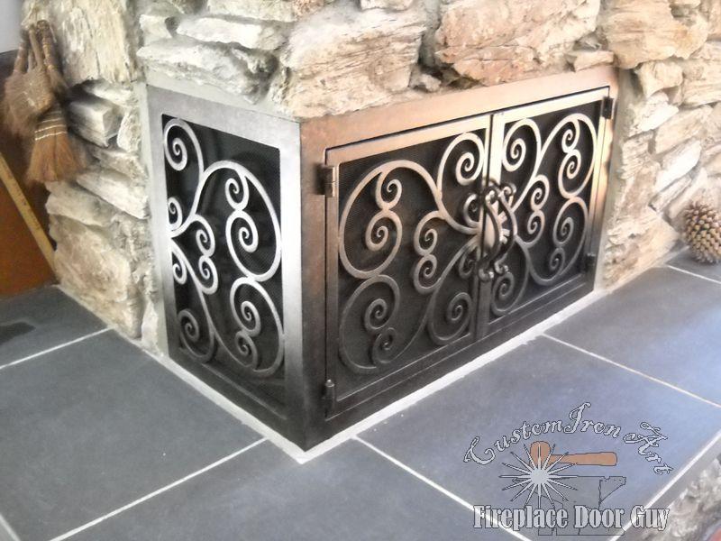 Fireplace Design az fireplaces : L Shaped Doors | Custom Fireplace Doors in California & Arizona ...
