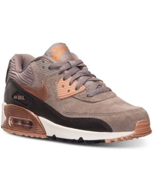 Nike Women s Air Max 90 Leather Running Sneakers from Finish Line - Brown 8 faa9f147e