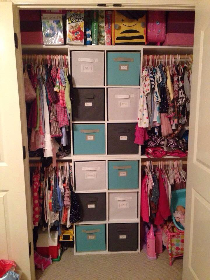 Great Idea For A Childu0027s Closet. These Cubes Are Available At Walmart  Target Loweu0027s And Home Depot! I Love The Use Of The Cubes To Support The  Shelves.
