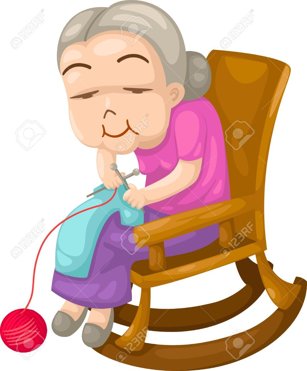 Knitting Granny Clipart : Grandmother stock vector cartoon old