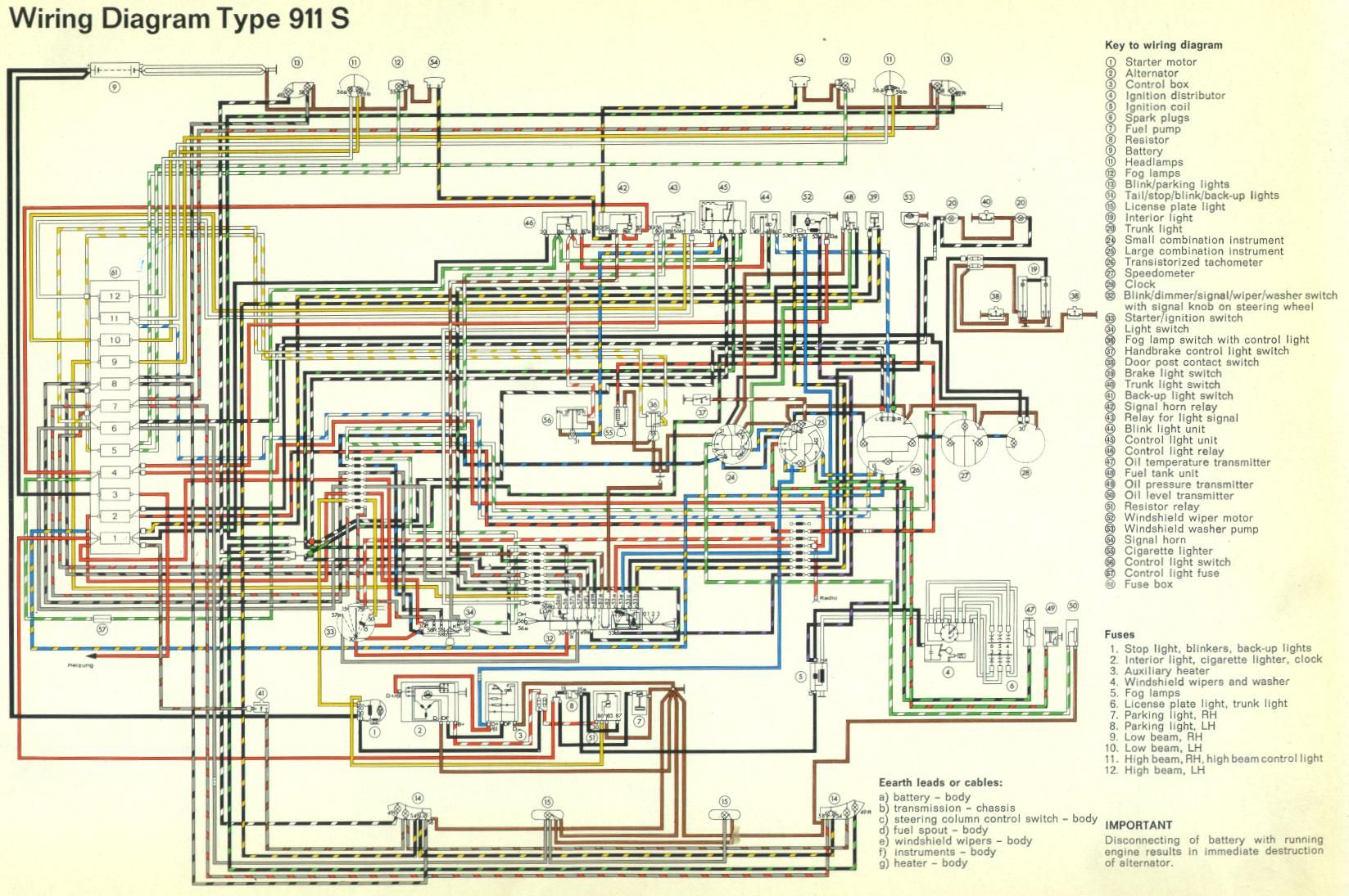914 wiring diagram 1974 74 in porsche 914 pinterest diagram rh pinterest  com Wiring-Diagram Software Porsche 911 Engine Diagram